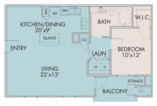 The Mira Floor Plan 1