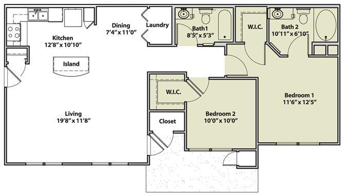The Condado Floor Plan 2