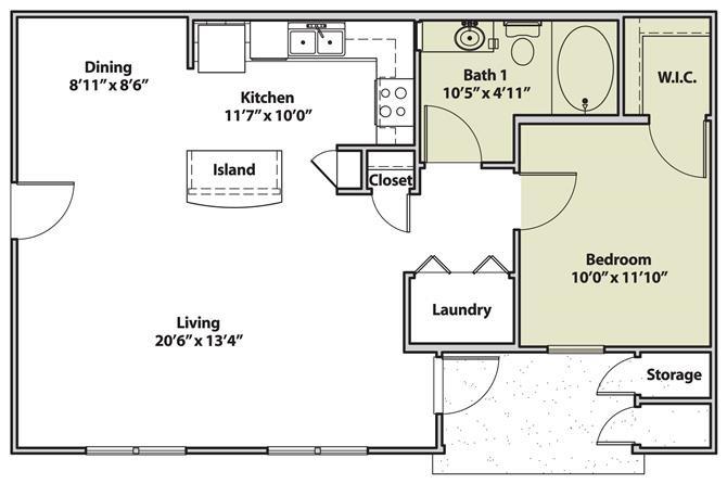 The Miramar Floor Plan 1