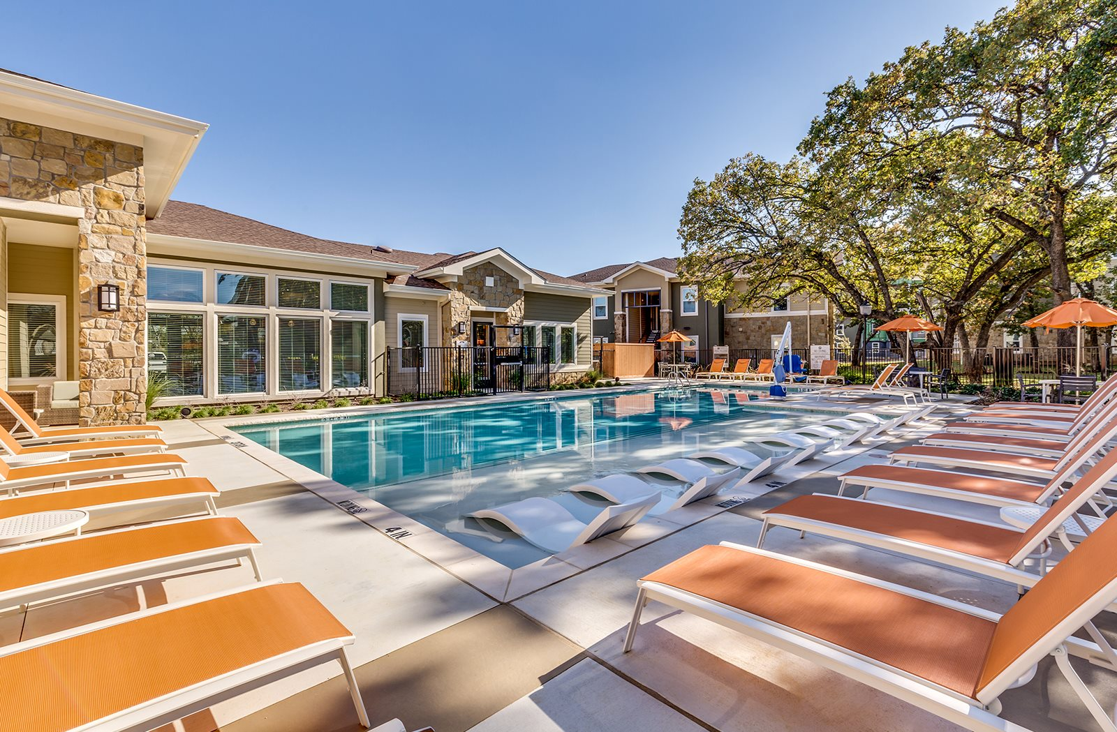 Sparkling Swimming Pool with Grill at The Veranda, Denton, TX