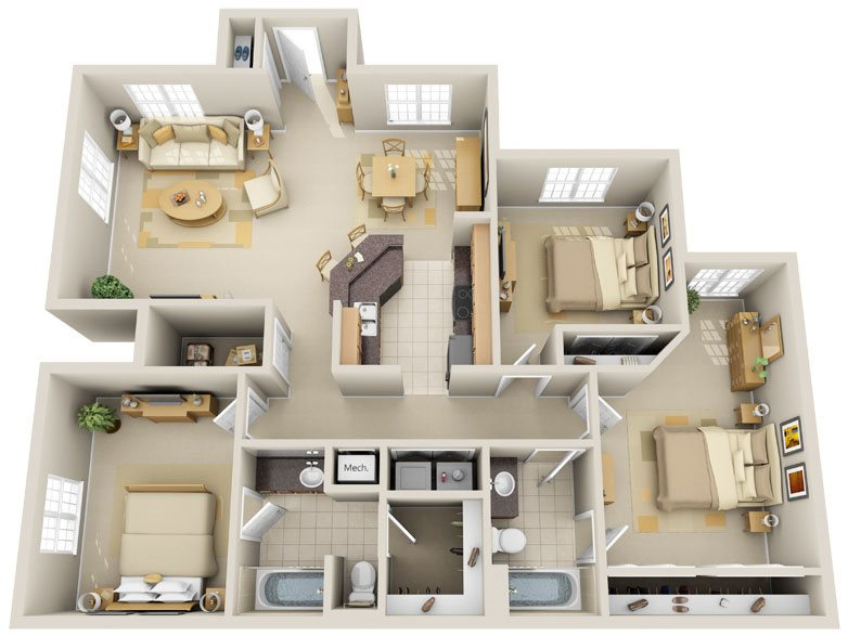 C3 - Emerald Key Floor Plan 14