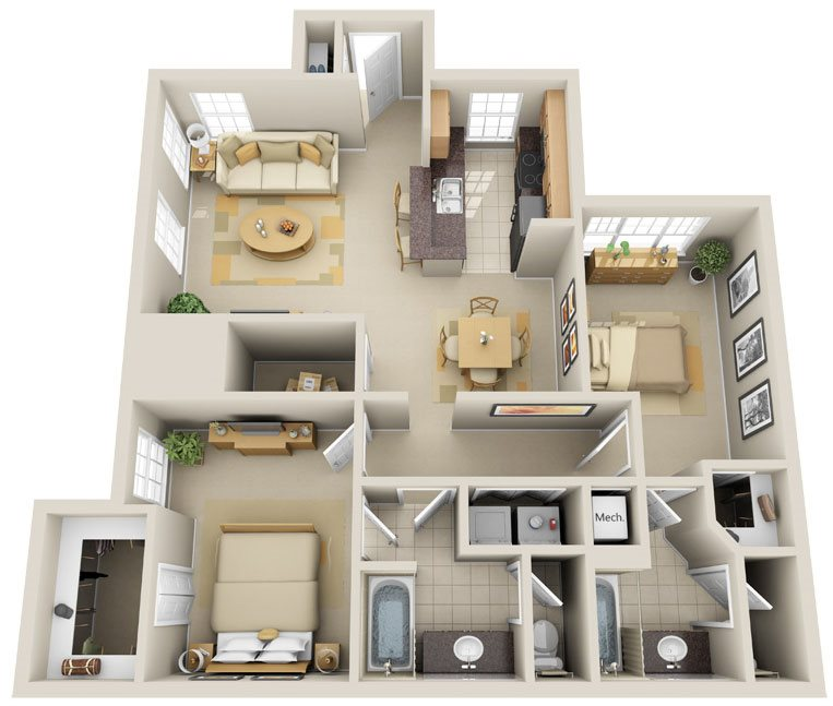 B2 - Long Key Floor Plan 9