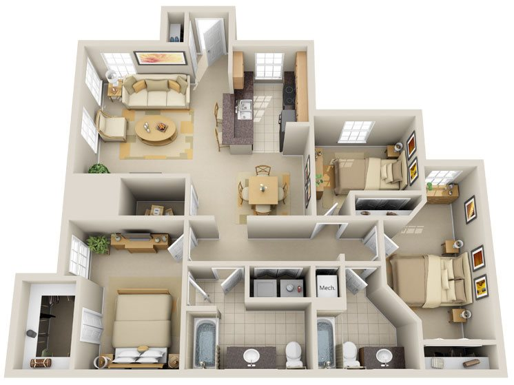 C1 - Sunshine Key Floor Plan 12