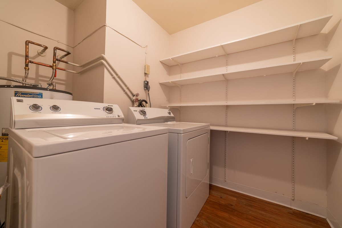 Full-Sized Washer And Dryer at Library Square, Indianapolis, IN