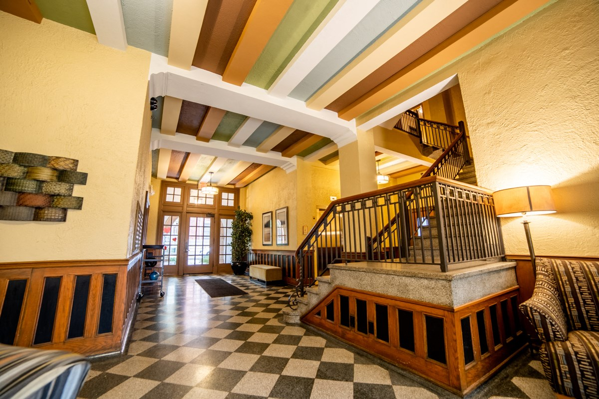 Spacious Lobby Area at Library Square, Indianapolis, Indiana
