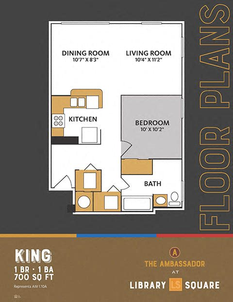 The Ambassador at Library Square - 1 Bedroom Apartments in Downtown Indianapolis