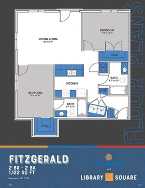 The Congress - Fitzgerald FloorPlan at Library Square, Indianapolis, Indiana