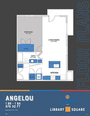 The Congress - Angelou FloorPlan at Library Square, Indianapolis, IN, 46204