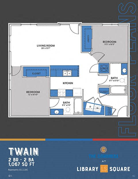 The Congress at Library Square - Two Bedroom Apartments in Downtown Indianapolis