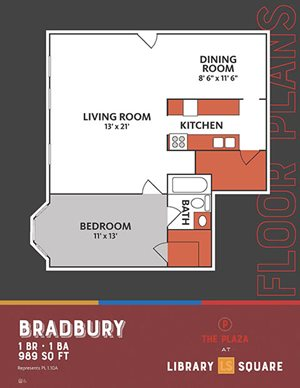 The Plaza at Library Square - 1 Bedroom Apartments in Downtown Indianapolis