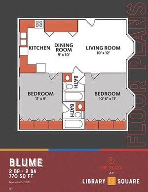 The Plaza at Library Square - 2 Bedroom Apartments in Downtown Indianapolis