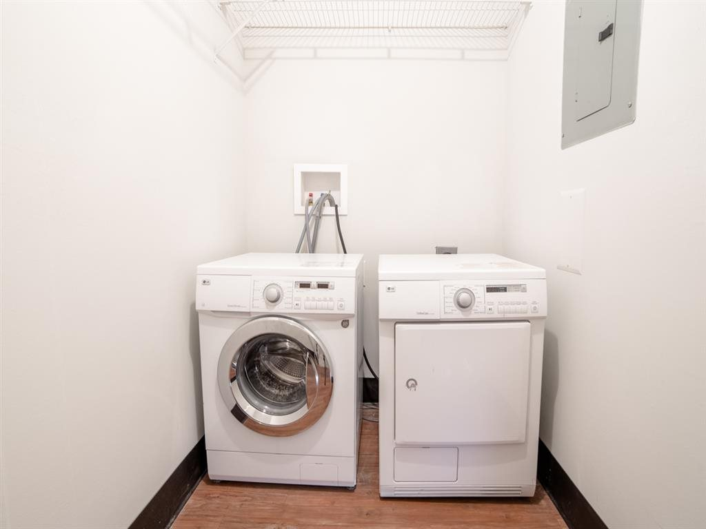 Modern Laundry Room at Buckingham Urban Living, Indianapolis, 46204