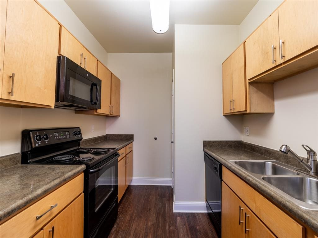 All Electric Community Kitchen at Buckingham Urban Living, Indianapolis, IN, 46204