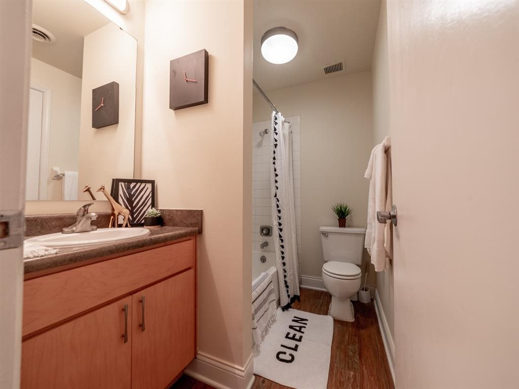 Bathroom With Storage at Buckingham Urban Living, Indiana, 46204