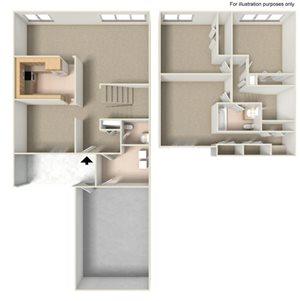 3 Bedroom 1.5 Baths
