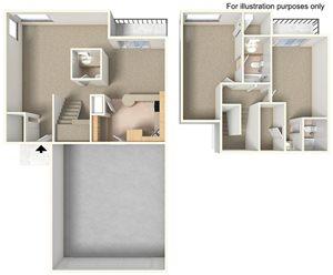 2 Bedroom 2.5 Baths
