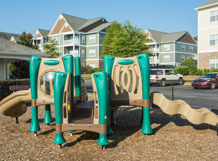 A smaller playground for younger kids outside at The Apartments at the Venue near LaGrange, GA.