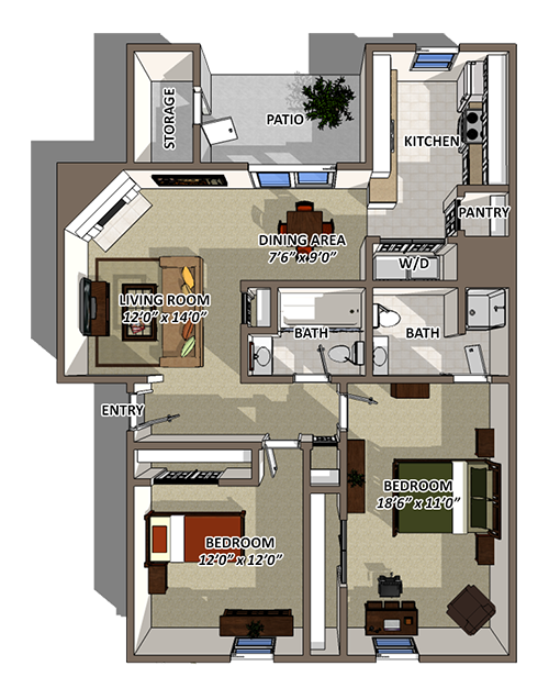 The Streamline Floorplan at Reserve At Barry