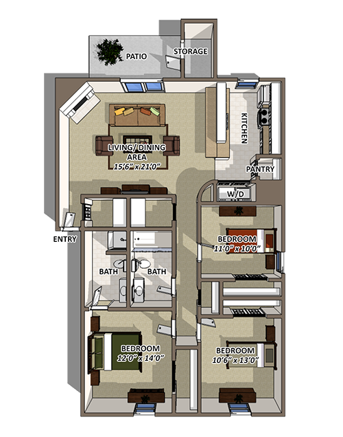 The Riverton Premium Floorplan at Reserve At Barry