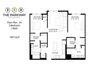 Floor plan at The Parkway Off Central, Minnesota, 55434