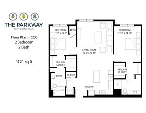 Floor plan at The Parkway Off Central, Blaine, Minnesota