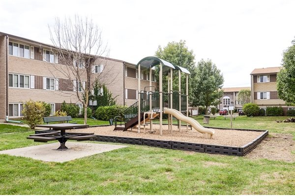 Apartments come with amenities like a playground located right on-site at Pangea Parkwest!
