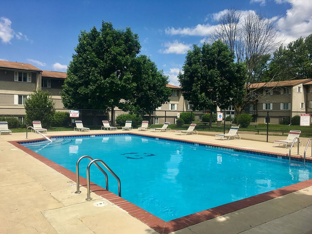 Enjoy a day in the sun in Indianapolis at the gorgeous pool at Pangea Parkwest Apartments!