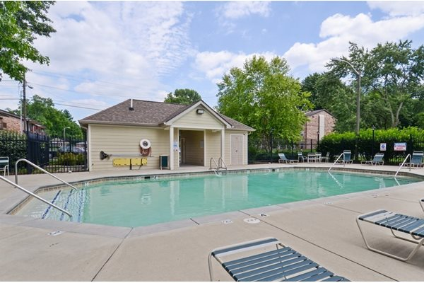 Pool at Pangea Groves apartments for rent in Broad Ripple, Indianapolis.