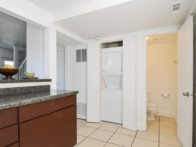 This apartment at Pangea Vistas includes updated kitchen counters.