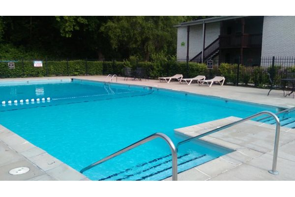 The apartments at Pangea Fields in Indianapolis feature awesome amenities like an outdoor pool!