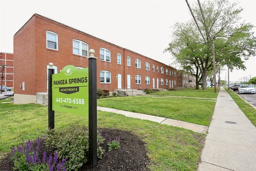 Pangea Springs Apartments in Baltimore, MD property grounds and exterior.
