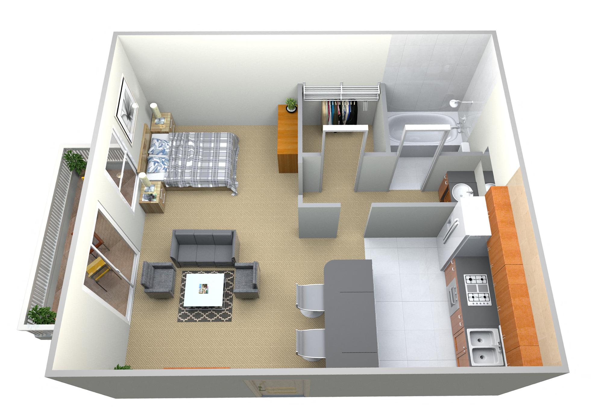 Lakeview Apartments 1Bed 1Bath 545Sqft Rev1