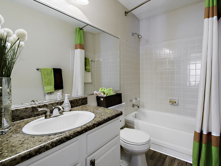bathroom-Crescent Shower Rods and Ceramic Tile Baths