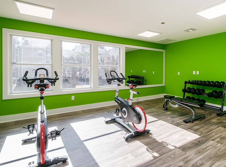bike training room