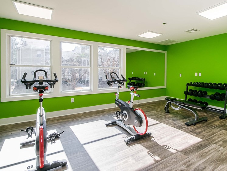 bike training room