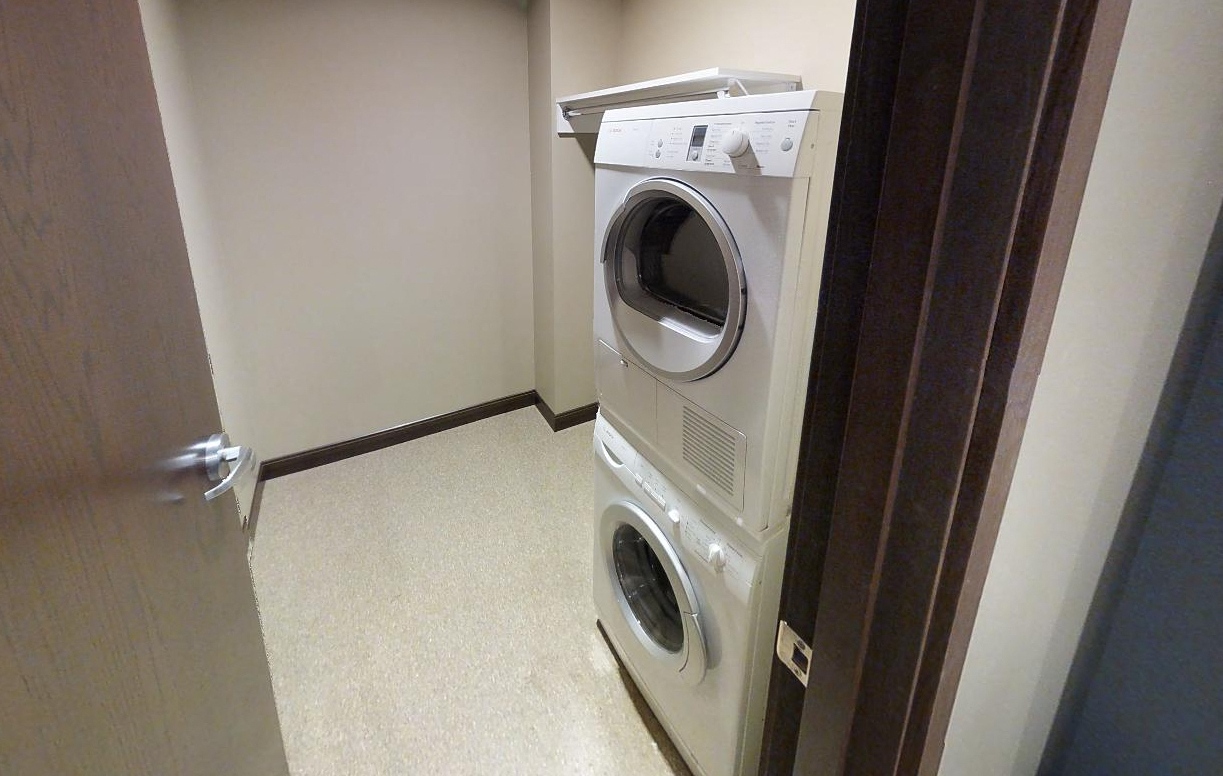 Full size washer and dryer in every unit.