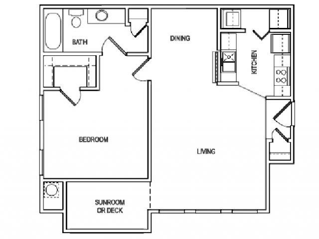 The Carolina floorplan with balcony