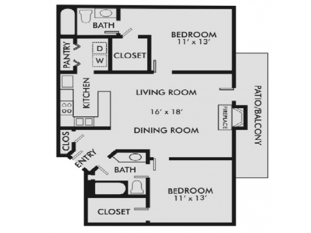 Charleston 2-2 Floor Plan 3