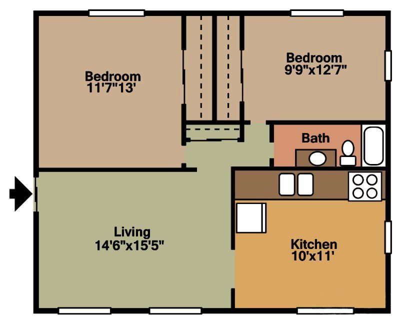 Cambridge (feat. Garage & Storage Unit) Floor Plan 5