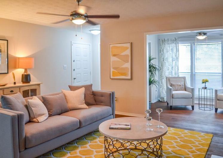 Bright Living Room at Woodland Hills