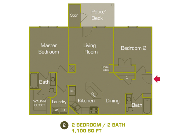 B Floor Plan at Woodland Trail, LaGrange, 30241