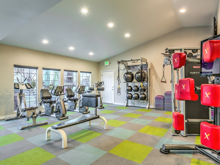 Fitness center- cardio machines, weighted machines