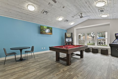 game area in clubhouse