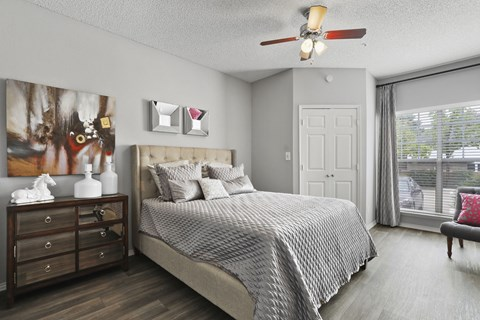ceiling fans in living room and bedrooms