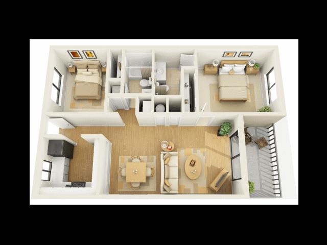 2x2A Floor Plan 3