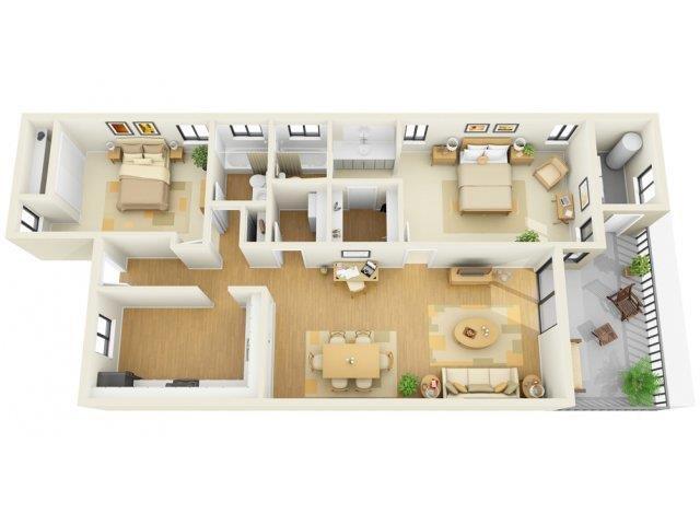 2x2C Floor Plan 5