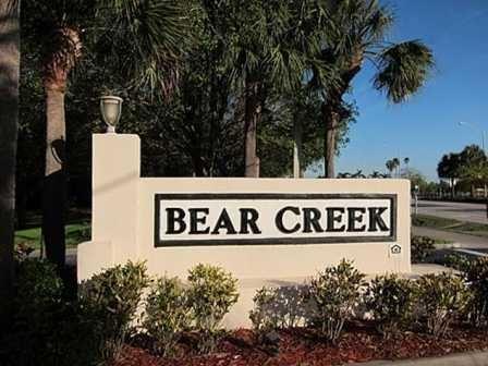Bear Creek entrance sign.
