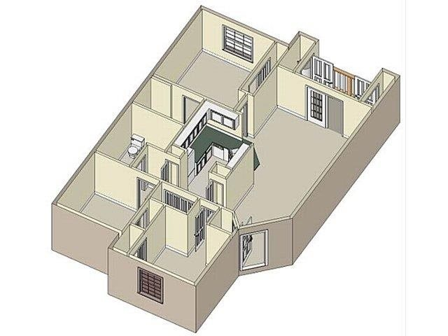 3 Bedroom/2 Bath Floor Plan 2