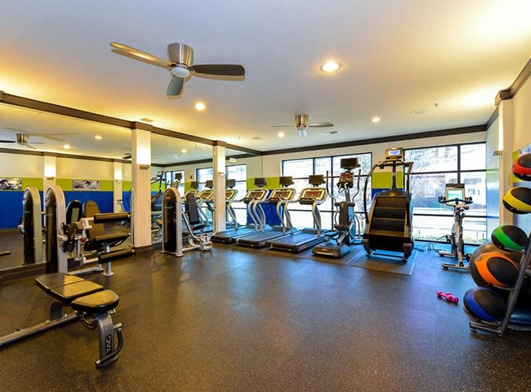 CB Lofts fitness center.