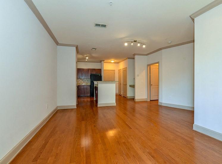 CB Lofts model living room.